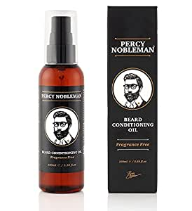 Beard Oil - Beard Conditioning Oil by Percy Nobleman - A Beard Softener and Deep Conditioner For Men (100ml)