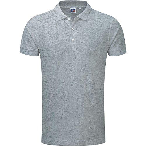 Russell Unisex Stretch Polo Shirt Light Oxford