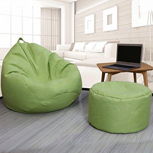 Sitzsäcke 2 Stück Fußbank Lazy Single Sofa Liege Stuhl Wohnzimmer Kleine Wohnung Kreative (Farbe...