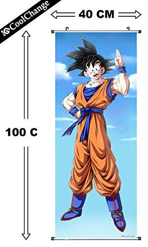 Preisvergleich Produktbild CoolChange Großes Dragon Ball Rollbild / Kakemono aus Stoff Poster, 100x40cm, Motiv: Son Goku