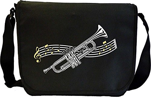 Trumpet Curved Stave - Musik Noten Tasche Sheet Music Document Bag MusicaliTee -