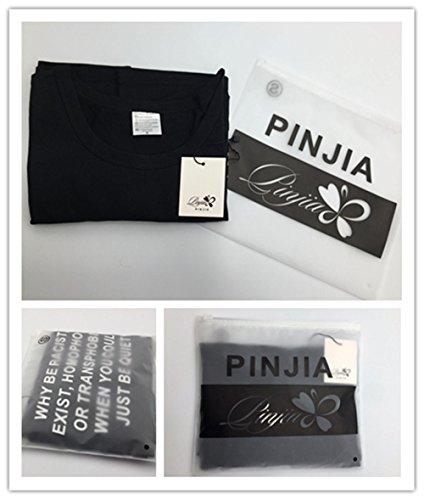 PINJIA Damen T-Shirt Black THEFUTURE