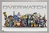 Overwatch Poster Anniversary Line up (96,5x66 cm) gerahmt in: Rahmen Silber