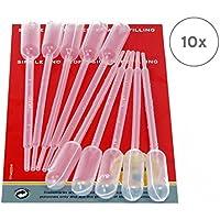 10 x 1 ml PE Transferpipetten, Pasteurpipetten, Laborpipetten, Dosierpipetten, Futterpipetten zum genauen Dosieren von Flüssigkeiten