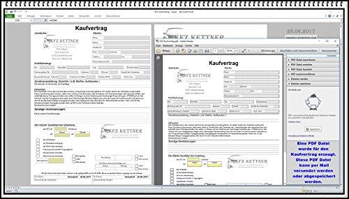 Elektronischer digitaler KFZ Handel Kaufvertrag Gebrauchtwagen gewerblich oder privat Software mit...