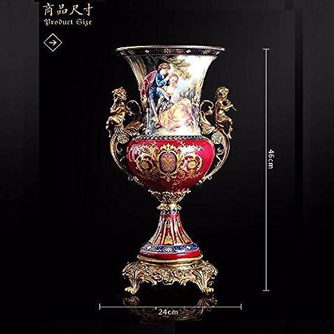 Upper-The high-end luxury decoration ceramic ceramic vase bronze vase with