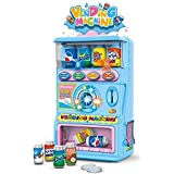 Toys N Smile Funny Beverage Vending Machine with Light and Music Pretend Play Toy Set for Kids (Blue)