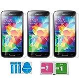 Diamant-Glas 3 Stück Samsung Galaxy S5/S5 Neo Panzerglas Displayschutzfolie | Blasenfrei | Ultra-HD | Bruchsicher | Panzerglasfolie ?lebenslange Garantie Vergleich