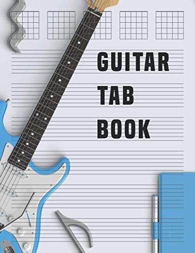 Guitar Tab Book: Blank Bass Guitar Tab