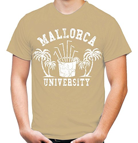 Mallorca University T-Shirt | Männer | Herren | Party | Urlaub | Sauf | Disco | Laune | Palma de Mallorca | Ballermann | Saufen | Kult Sand