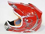 Helm Kinderhelm Motorradhelm Crosshelm Motocrosshelm Sport Rot S