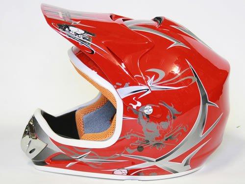 Helm Kinderhelm Motorradhelm Crosshelm Motocrosshelm Sport Rot M