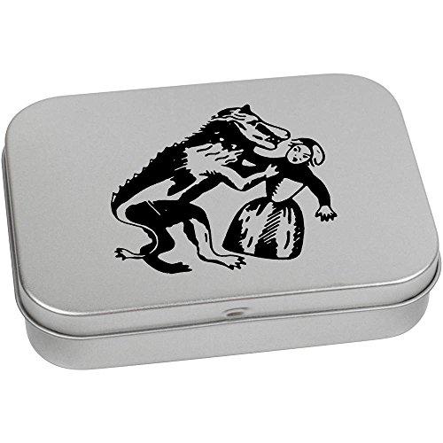 110 Tabletten (Azeeda 110mm x 80mm 'Werwolf' Blechdose / Aufbewahrungsbox (TT00083966))
