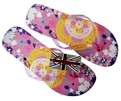Octave® - Infradito da donna per l'estate e la spiaggia, diversi stili e colori Lace Design - Light Pink