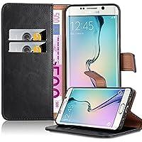Cadorabo Coque pour Samsung Galaxy S6 Edge Plus en Noir DE Jais – Housse Protection avec Fermoire Magnétique, Stand Horizontal et Fente Carte – Portefeuille Etui Poche Folio Case Cover