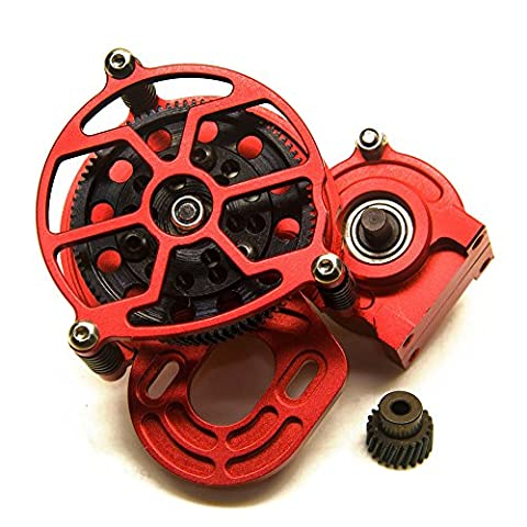 Aluminum Transmission Case Center Gearbox for 1/10 Axial SCX10 AX10 RC Crawler Red