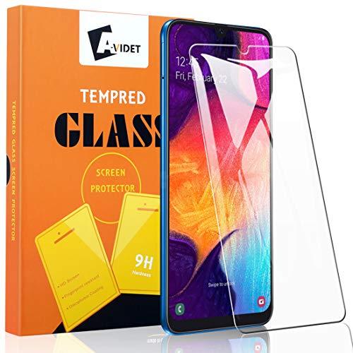 A-VIDET 3 Stück Schutzfolie für Samsung Galaxy A50,9H Härte Super Langlebig, Anti-Öl,Schutzfoliefolie Bildschirmschutz Bildschirmschutzfolie für Samsung Galaxy A50