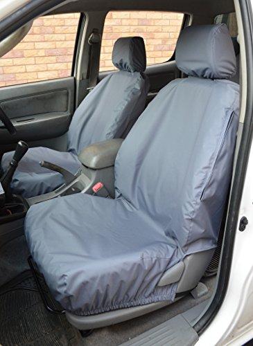 Tailored Waterproof Pair Front Black Seat Covers Fits Nissan Navara NP300 2016+