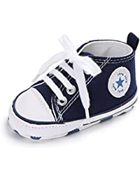 Babycute Chaussures pour nouveau-nés et bébés, unisexes, semelle souple, antidérapantes, en toile, style sport décontracté