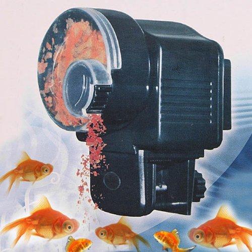 Dispensador automático de comida para peces con mecanismo retardado para acuario