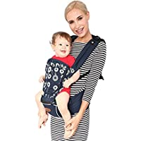 Kiddale Ergonomically Designed Baby Carrier(Sling) (30-45 inch Waist) XL with Baby Head Protector, Detachable Hip SEAT and Shoulder Strap to give Extra Comfort to Baby and Parents