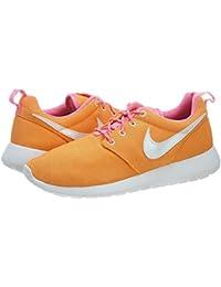 Zapatillas Nike Run Roshe blancos rojos para niños - 599728-603