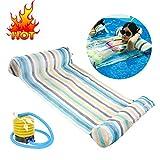 Aolvo Pool Vollieger–Aufblasbarer Stuhl, groß, Bett, Matte Bett Schwimmbad Stuhl, aufblasbar, leicht, kompakt und tragbar Schwimmbad Matte, für Erwachsene und Kinder, 265kg. mehrfarbig
