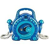 Idena 40104 - Lettore CD per bambini, per karaoke, con 2 microfoni e display a LED, colore: Blu