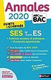 Annales ABC du Bac 2020 Sciences Economiques et Sociales - Term ES...