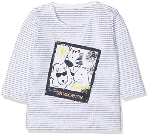NAME IT Baby-Jungen Langarmshirt NBMGALON LS TOP W. Artwork, Weiß (Bright White), 80