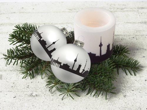 "Christbaumkugel / Weihnachtskugel: ""Berlin zum Anhängen"", City Bubble, Glas"