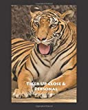 Tiger Up Close & Personal 4x4 Graph 8x10 Notebook Journal