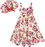 HD55 Sunny Fashion - Vestito floreale, bambina, rosa 14 anni