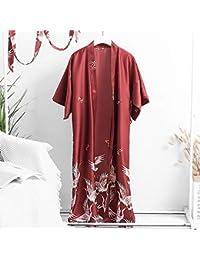 LCT Primavera y otoño grúas camisón Mujer Verano Hielo Seda Boda Pijamas Maquillaje de Dama de