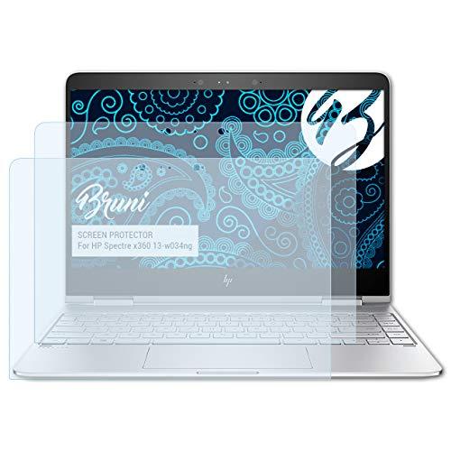 Bruni Schutzfolie für HP Spectre x360 13-w034ng Folie, glasklare Bildschirmschutzfolie (2X)