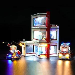 BRIKSMAX Kit di Illuminazione a LED per Lego City Ospedale,Compatibile con Il Modello Lego 60204 Mattoncini da… Lego Outlet LEGO