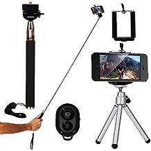XCSOURCE® 4in1 Selfie Stick / Palo para selfies + Disparador con Control Remoto por Bluetooth + Trípode + Soporte para Teléfonos compatible con IOS 4.0+ Android 3.0+
