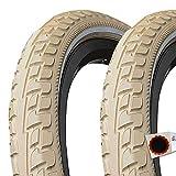 Continental 2X Ride Tour E-25 Draht Reflex 28 Sondergröße 37-635 Creme + Flicken