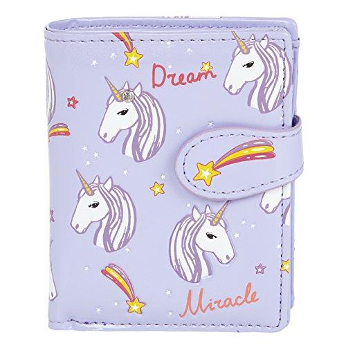 Shagwear Junge-Damen Geldbörse, Small Purse Designs: (Unicorns/Unicorns Lila)