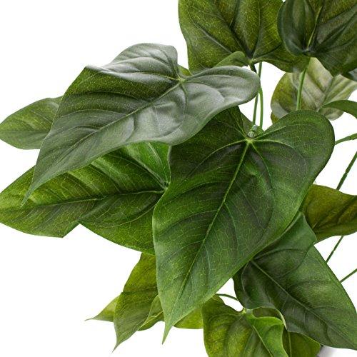 artplants Set 2 x künstliches Anthurium Lania auf Steckstab, grün, 50 cm – Anthuria/Kunstpflanze
