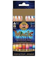 Koh-i-noor Magic 3404 - 12 Multicolored Pencils + Blender + Sharpener + Eraser