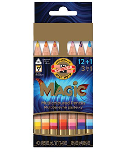 KOH-I-NOOR MAGIC Jumbo Triangular Coloured Pencil (Pack of 12 + 1)