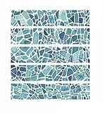 Adesivo Per Piastrelle 3D Stile Barocco, 20X100Cm / 5Pcs Decorazione Carta Da Parati Bagno Ristorante Cucina Hotel