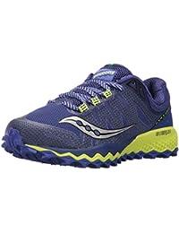 Saucony Women's Peregrine 7 Running-Shoes, Blue Citron, 8. 5 Medium US