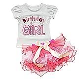 iEFiEL Baby Mädchen 2tlg. Bekleidungsset Top T-shirt Tutu Pettiskirt Kleid Party Geburtztag Festkleid (12-18 Monate) thumbnail