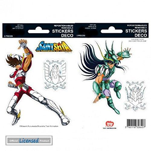 1art1 78693 Saint Seiya - Pegasus & Shiryu Aufkleber Pack 15 x 10 cm