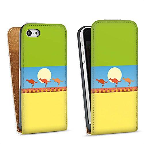 Apple iPhone 4 Housse Étui Silicone Coque Protection Australie Kangourou Vacances Sac Downflip blanc