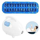 Tapis de massage pour spa et appareils pour le bain à bulles, tapis de bain à bulles avec points de massage pour le spa, tapis de bain doux et antidérapant (15/30/60 minutes)(Blanc)