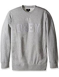 Obey North Point Crew Fleece hommes, molletonné, gris