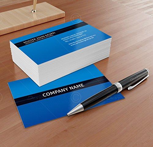 Business Visitenkarten - Online gestalten! Despri Design VK023, Blau, 250 Stück, glänzend